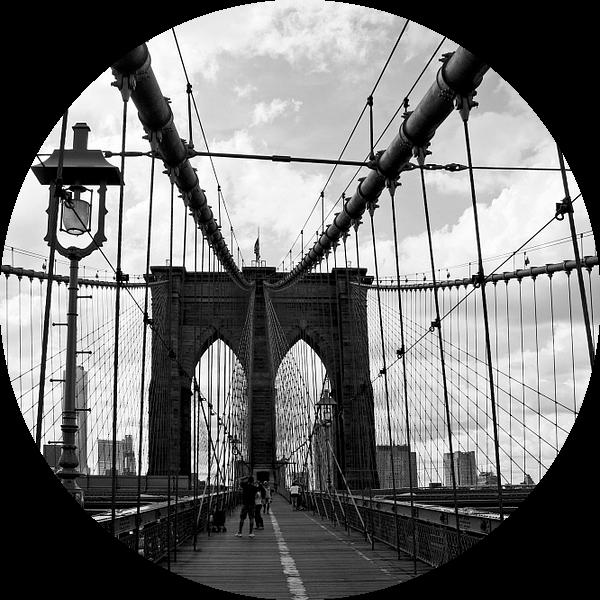 new york city ... crossing brooklyn bridge van Meleah Fotografie