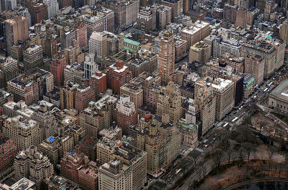 New York. luchtfoto Manhattan in kleur.