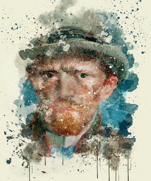 Zelfportret, Vincent van Gogh, 1887 van zippora wiese
