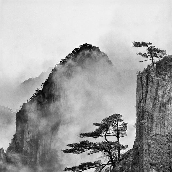 Nevelbergen in China van Paul Roholl