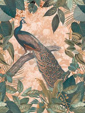 Peacock in Paradise III van Andrea Haase
