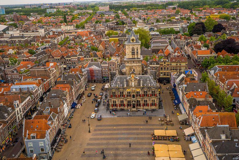 Markt Delft mit Rathaus von Fred Leeflang