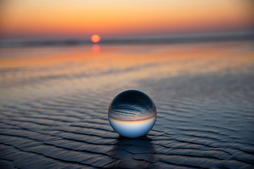 Ameland: am Strand Sonnenuntergang von Coby Bergsma
