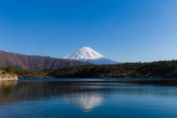 Uitzicht op Mt. Fuji van Schram Fotografie