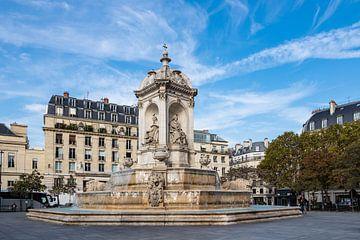 Blick auf den Visconti-Brunnen in Paris, Frankreich von Rico Ködder