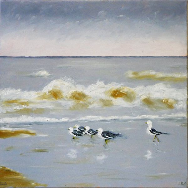 Strand #2 van Jan Wiersma