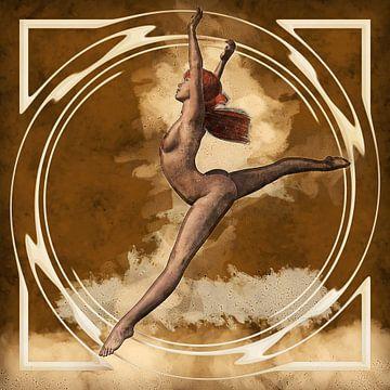Jump to freedom (illustratie, erotiek) van Art by Jeronimo
