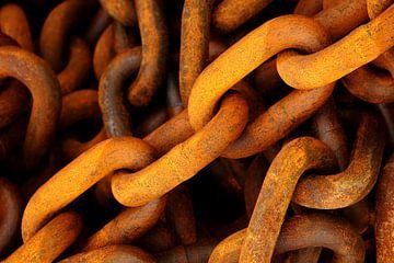 Grove scheepskettingen in oranje roestkleur van Alice Berkien-van Mil