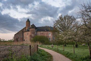 wolken over het kasteel van Waardenburg van Tania Perneel