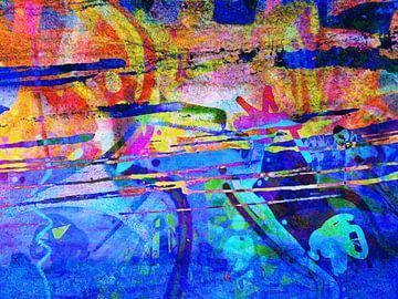 Modern, Abstract Digitaal Kunstwerk – Act of Defiance van Art By Dominic