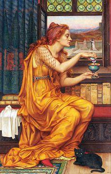 Evelyn De Morgan, Der Liebestrank - 1903 von Atelier Liesjes