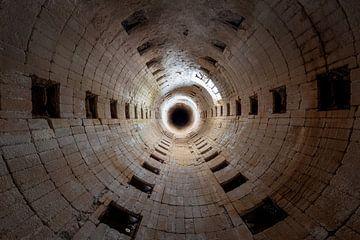 invertierter verlassener Tunnel von Kristof Ven