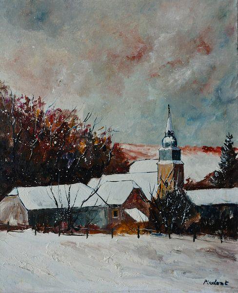 Ruhiges Dorf unter dem Schnee von pol ledent