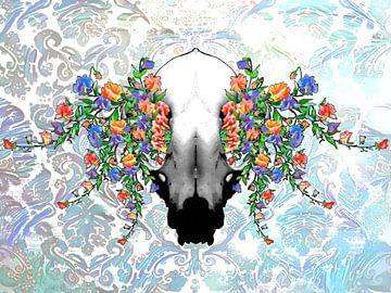 Skull & Flowers von Samuel Chocron