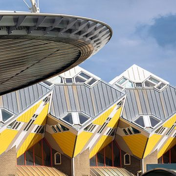 Kubushäuser, Pfahlbauten, Rotterdam, Niederlande,