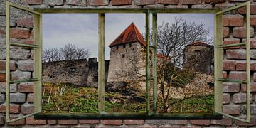 Raam uitzicht -Burghausen - Kasteel van Christine Nöhmeier