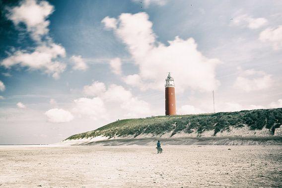 Vuurtoren op het Eiland Texel van Wesley Flaman