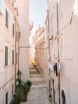 Straten van Dubrovnik | Pastel Kroatië reisfotografie print poster | Wanderlust-vibes