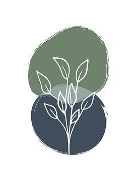 Abstrakter botanischer Druck von MDRN HOME