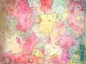 Seelen Landkarte bunt sur Katrin Behr