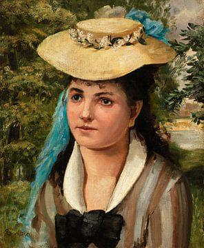 Renoir, Junges Mädchen mit Strohhut (1866)