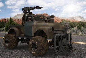 Outlander Camion et arme à feu sur H.m. Soetens