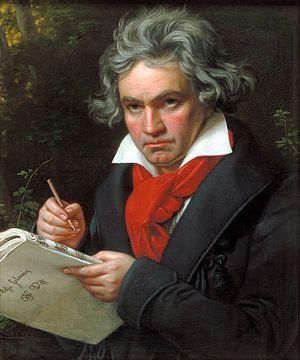 Portret van Ludwig van Beethoven, Karl Joseph Stieler sur