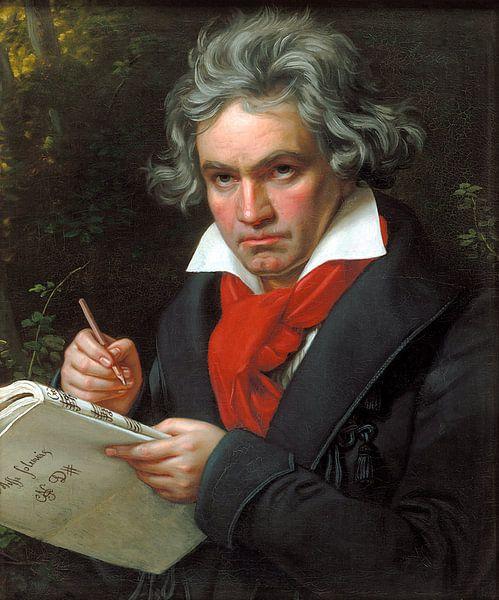 Portret van Ludwig van Beethoven, Karl Joseph Stieler van Meesterlijcke Meesters