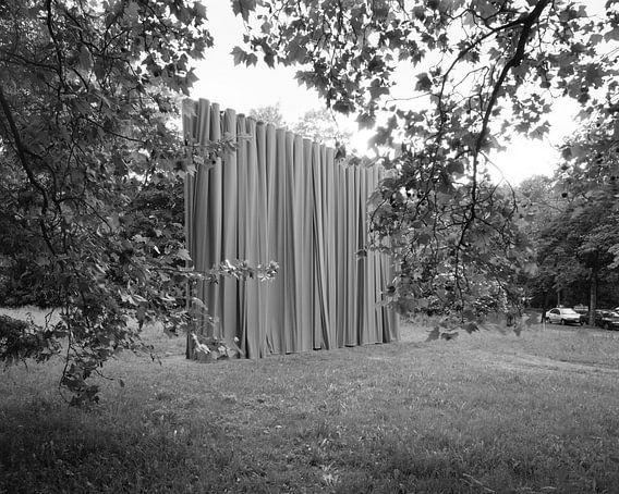 Curtain up - curtain closed - kunstinstallatie in het centrum van Leipzig