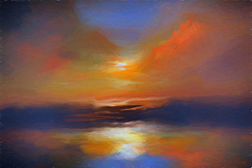 Couleurs du coucher du soleil van Angel Estevez