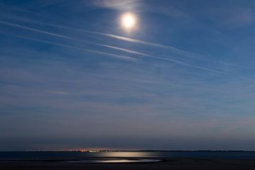 Mondschein auf der Maasvlakte von Danny de Jong