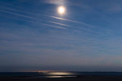 Maanlicht op de Maasvlakte van