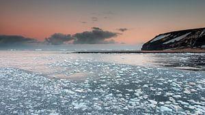 Panorama - IJzige zonsopkomst Antarctica - Cape Adare