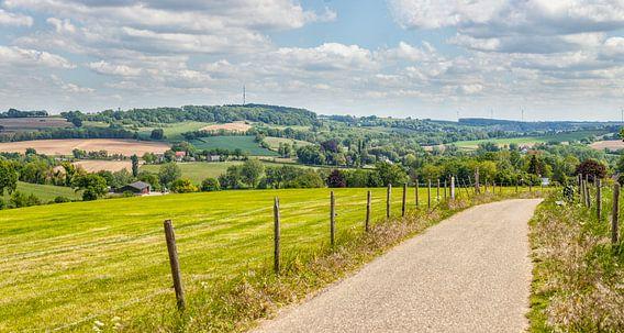 Panorama  van het Zuid-Limburgse landschap in de buurt van Gulpen