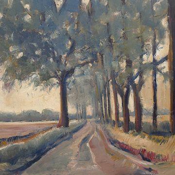 Landstraße in Nord-Brabant von Nop Briex
