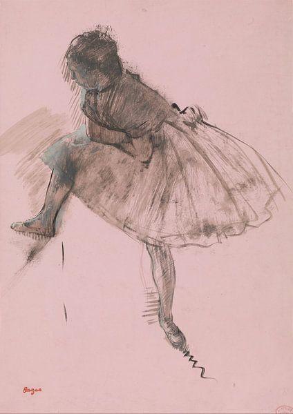 Studie eines Balletttänzer, Edgar Degas von Meesterlijcke Meesters