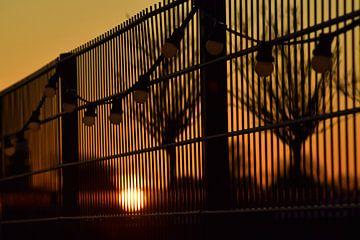 zonsondergang Strandpaviljoen Edam van Annemarie Kroon