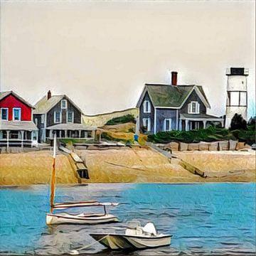 Beach houses van L.J. Lammers