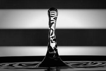 Wassertropfen auf schwarzen und weißen Oberflächen von René van der Horst