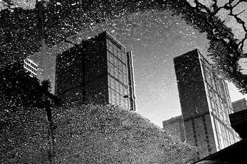 Straßenszene mit Spiegelung in Chengdu | China von Photolovers reisfotografie