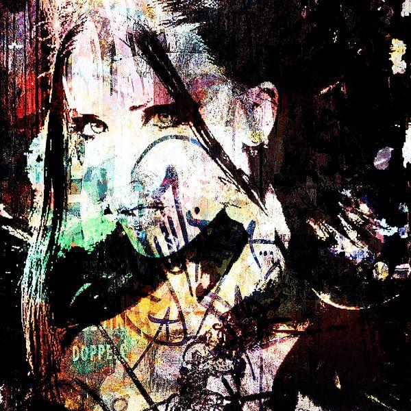 Streetart woman von PictureWork - Digital artist