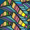 GRAFISCHE PRINT BANANENBLAD 1 van Marijke Mulder thumbnail