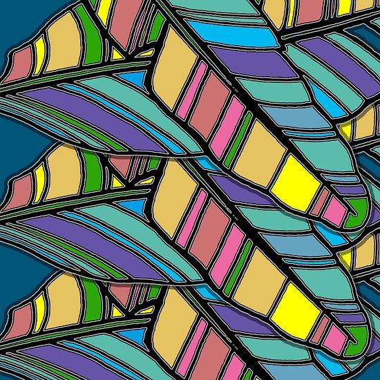 GRAFISCHE PRINT BANANENBLAD 1 van MY ARTIE WALL