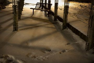 Bankje in de sneeuw van mandy sakkers