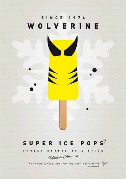 My SUPERHERO ICE POP - Wolverine van Chungkong Art