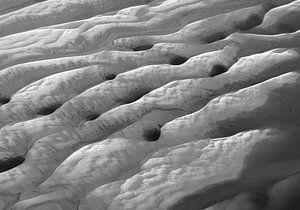 Zandplaten in Westerschelde bij laagwater van Sky Pictures Fotografie
