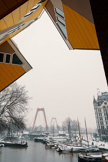 Der Alte Hafen im Schnee