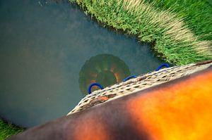 reflectie van een luchtballon van