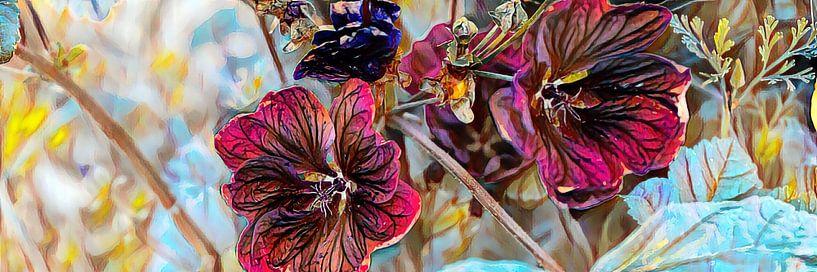 Sommerblumen Ölmalerei von Patricia Piotrak