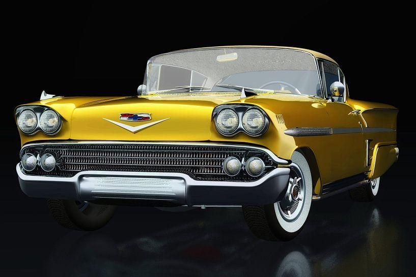 Chevrolet Impala Special Sport 1958 driekwart aanzicht van Jan Keteleer